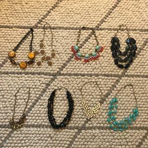 statement necklace bundle of 8